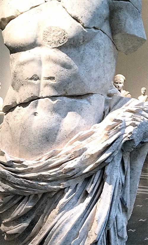 Close up of torso sculpture